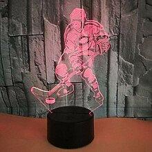 3D Optische Täuschung Lampe Hockeyspieler