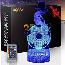 3D Optische Täuschungslampe Fußball A mit 16