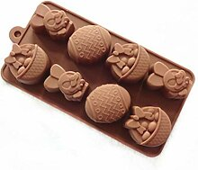 3D-Oster-Hase Ei Schokolade Silikonform Antihaft