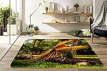 3D Papagei Wald 236 Rutschfest Teppich Matte Raum