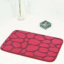 3D Pebble Teppich Geprägte Boden Fußmatte Bad