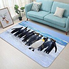 3D Pinguin Südpol 248 Rutschfest Teppich Matte