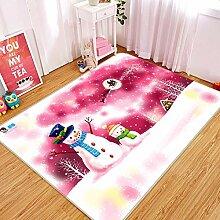 3D Pink Snowman 248 Rutschfest Teppich Matte Raum