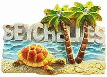 3D Praslin Seychellen Souvenir Kühlschrankmagnet,