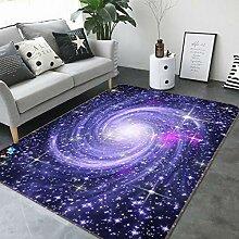 3D Purple Star 003 Rutschfest Teppich Matte Raum