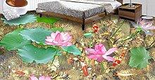 3D PVC-Bodenbelag Benutzerdefinierte Tapete Lotus