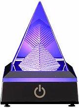 3D-Pyramide, Kristall-Dekoration mit