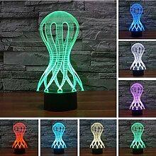 3D Quallen Schreibtisch Tisch Nachtlicht Remote