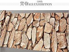 3d - retro - stein stein muster pvc - tapete