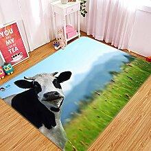 3D Rinder 223 Rutschfest Teppich Matte Raum Matte
