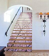 "3D Rosa Kirschblüten 47 Stair Risers Dekoration Fototapete Vinyl Aufkleber Tapete DE Carly (13x H:18cm x W:94cm (7""x37""))"