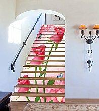 "3D Rosa Rose Schmetterling 503 Stair Risers Dekoration Fototapete Vinyl Aufkleber Tapete DE Carly (15x H:18cm x W:94cm (7""x37""))"