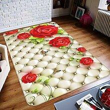 3D Rose 181 Rutschfest Teppich Matte Raum Matte