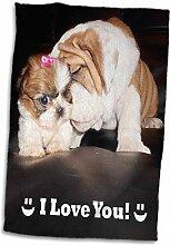 3D Rose Englische Bulldogge I Love You TWL_40636_1