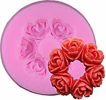 3D Rose Flower Fondant Cake Schokolade Sugarcraft Form Cutter Silikon Werkzeuge DIY