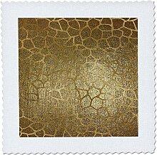 3D Rose Glam Quilt, Giraffen-Muster, quadratisch,