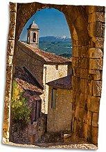 3D Rose Stone Gate-Lacoste-Mt