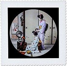 3D-Rose Vintage japanische Geisha-Friseur,