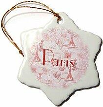 3D-Rosenbild des Wortes Paris auf französischem