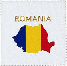 3D-Rosenbild Einer exotischen Karte von Rumänien