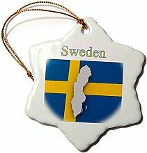 3D-Rosenbild Einer exotischen Schweden-Karte auf