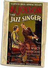 3D-Rosenbild für Jazzsänger mit al Jolson