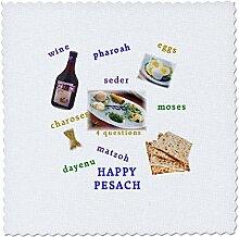 3D-Rosenbild mit fröhlichem Passover und Seder
