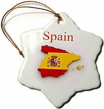 3D-Rosenbild von exotischer Spanien-Karte und