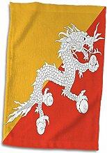 3D-Rosenflagge von Bhutan-Druk, bhutanischer
