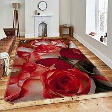 3DRot Rosen Schmetterlinge