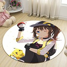 3D Rug Mat for Pokemon Pikachu Girl 137 Japan