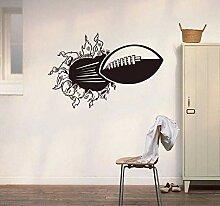 3D Rugby Fußball Durch Die Wand Aufkleber Für