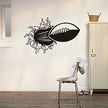 3D Rugby Wandaufkleber Kinderzimmer Rugby