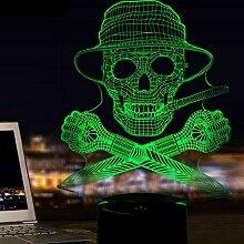 3D Schädel LED Lampe Art Deco Lampe LED Lichter