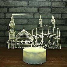 3D Schloss Optische Illusions Lampe 7 Farben