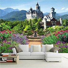 3D schöne Burg Fototapete Hintergrund für