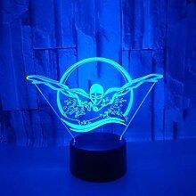 3D Schwimmen Lampe USB Power 7 Farben Amazing