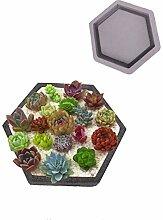3D-Sechskant-Geometrische Silikon-Blumentopf-Form,