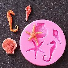 3D-Silikonform Sea Serie Fondant Kuchen Dekorieren