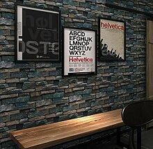 3D-Simulation Ziegelstein Retro-Tapete Breite 0.53m lange 10m TV-Hausdekoration industrielle Wind-Tapete 4 Farbe , 4
