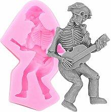 3D-Skeleton Schädel-Kuchen-Silikon Formen