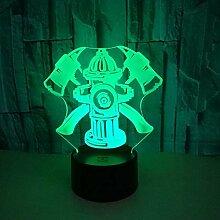 3D Slideshow3D Nachtlicht 7 Farbe 3D Led