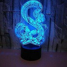 3D Snake LED Lampe Art Deco Lampe LED Lichter
