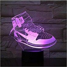3D Sneaker Sportschuhe LED Acryl Nachtlicht mit