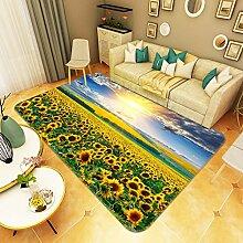 3D Sonnenblume Himmel 274 Rutschfest Teppich Matte