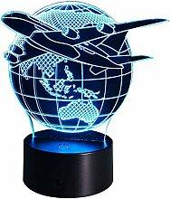 3D Space Shuttle Lampe USB Power 7 Farben Amazing