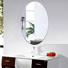 3D Spiegel Wandaufkleber Oval Selbstklebende