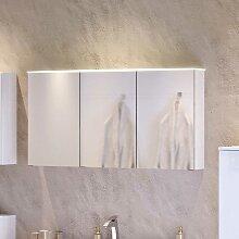 3D Spiegelschrank in Weiß 120 cm breit