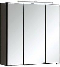 """3D-Spiegelschrank Spiegel Badspiegel Badezimmerspiegel Hängeschrank Bad """"Cleo I"""" (graphitgrau, 60 cm)"""