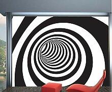 3D Spirale Schwarz Und Weiß Wandbilder Tapete